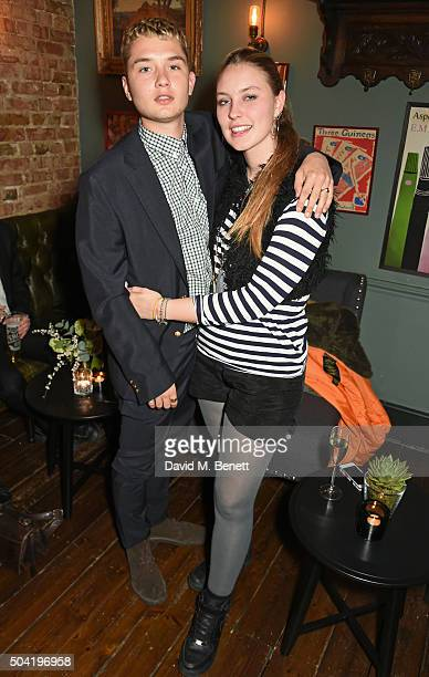 Rafferty Law and Ella Dallaglio attend COACH Men's Fall/Winter 2016 Party hosted by Stuart Vevers at The Lady Ottoline on January 9 2016 in London...