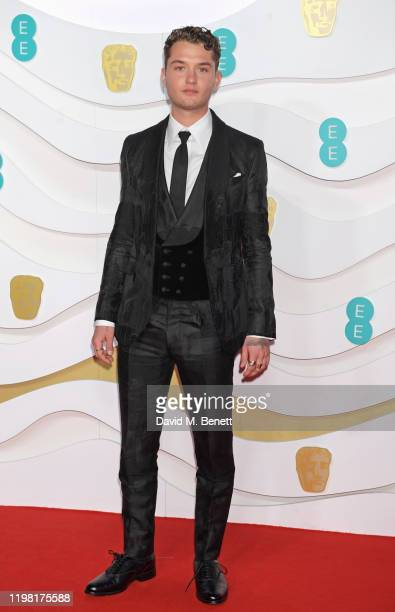 Rafferty Law arrives at the EE British Academy Film Awards 2020 at Royal Albert Hall on February 2, 2020 in London, England.