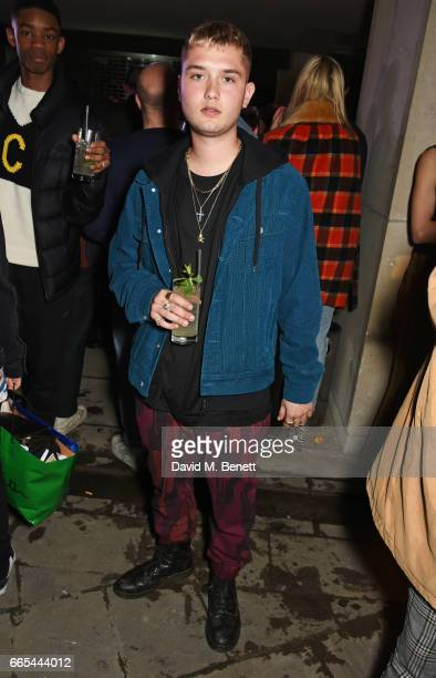 Rafferty Law attends as Dazed ck one celebrate the launch of the Dazed 100 at 180 The Strand on April 6 2017 in London England