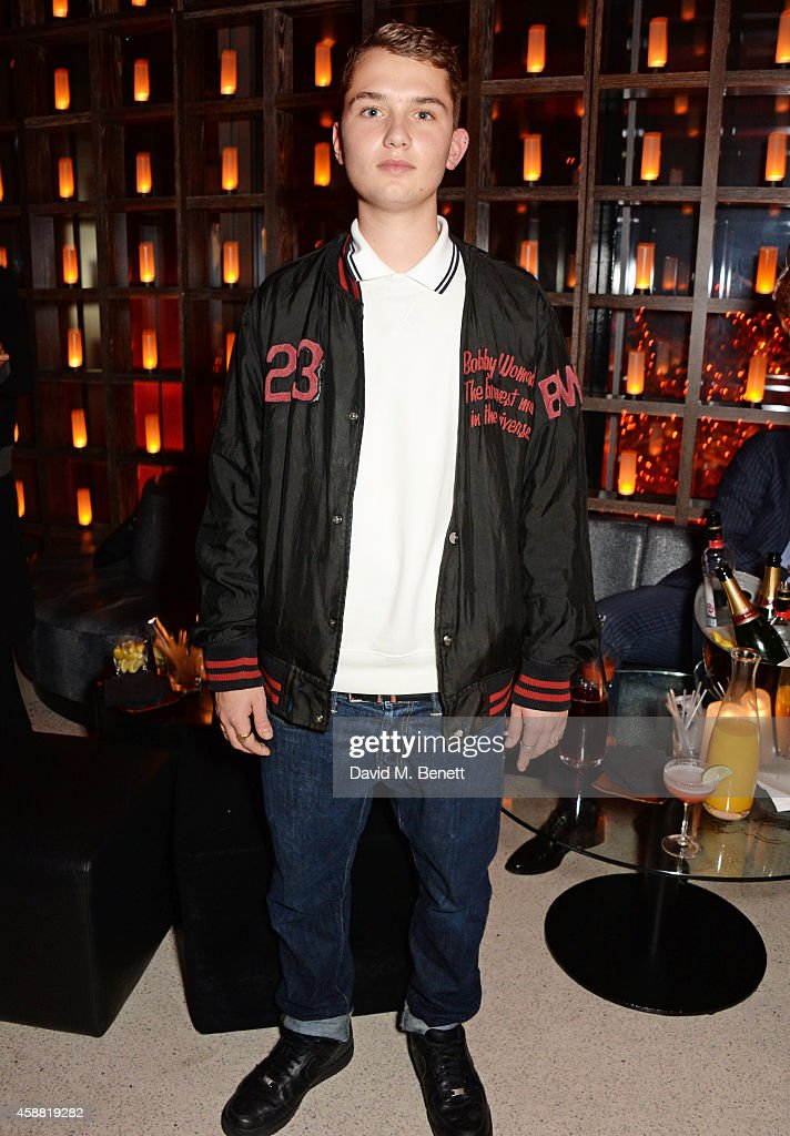 Rafferty Law attends Sushisamba's second anniversary celebration with a performance by Lily Allen at VIP at Sushi Samba on November 11, 2014 in London, England.