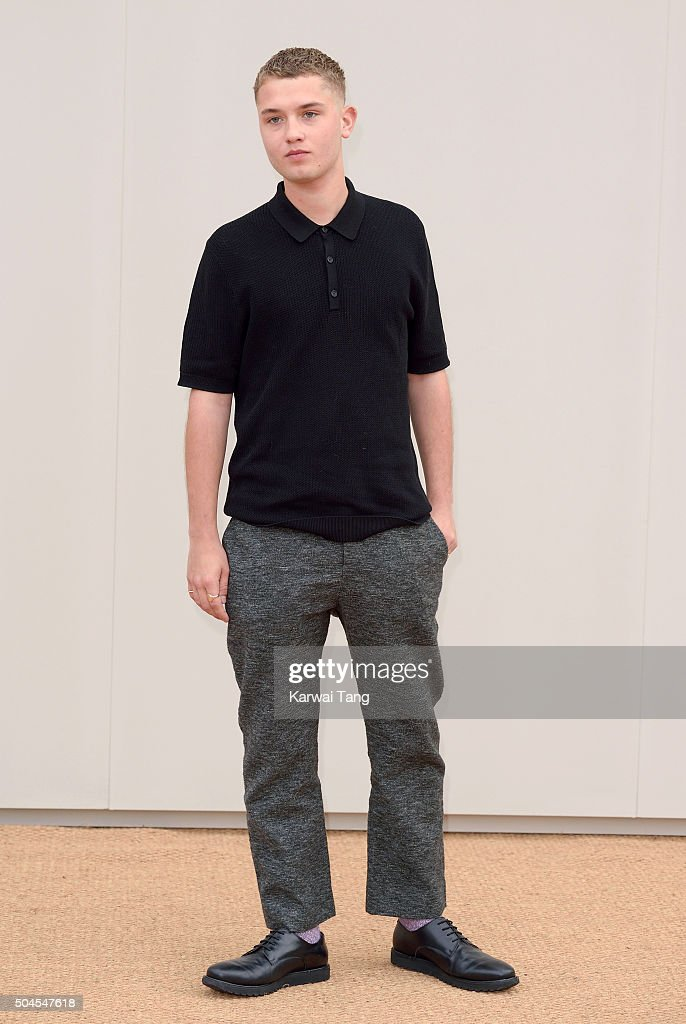 Rafferty Law attends the Burberry show during The London Collections Men AW16 at Kensington Gardens on January 11, 2016 in London, England.