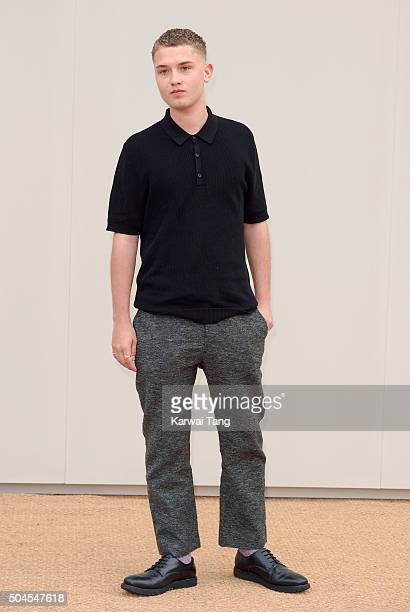 Rafferty Law attends the Burberry show during The London Collections Men AW16 at Kensington Gardens on January 11 2016 in London England