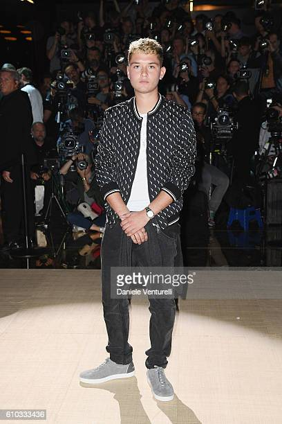 Rafferty Law attends the Dolce And Gabbana show during Milan Fashion Week Spring/Summer 2017 on September 25 2016 in Milan Italy