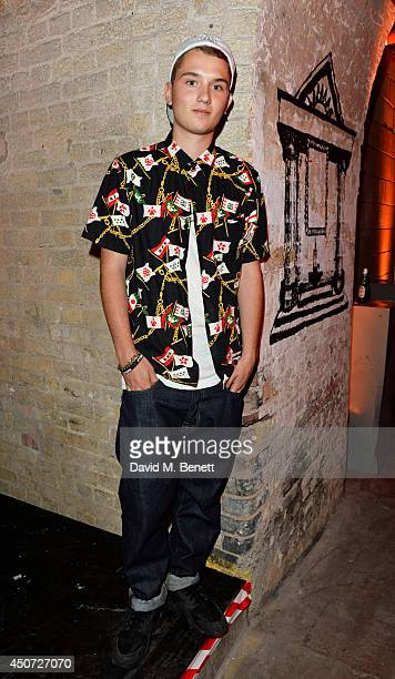 Rafferty Law attends the Harvey Nichols presentation of #BEENTRILL# designer collaboration during London Collections Men at The Vaults on June 16...