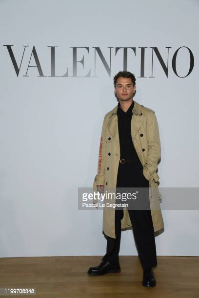 Rafferty Law attends the Valentino Menswear Fall/Winter 2020-2021 show as part of Paris Fashion Week on January 15, 2020 in Paris, France.