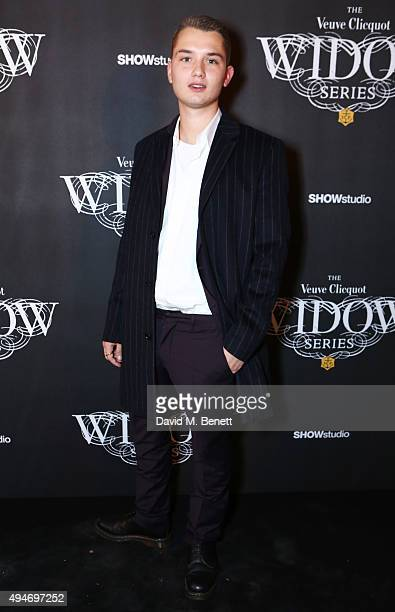 Rafferty Law attends the Veuve Clicquot Widow Series 'A Beautiful Darkness' curated by Nick Knight and SHOWstudio on October 28 2015 in London England