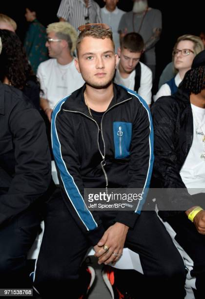 Rafferty Law attends the What We Wear show during London Fashion Week Men's June 2018 at the BFC Show Space on June 11 2018 in London England