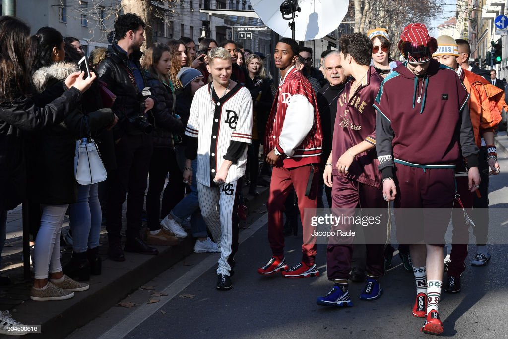 Celebrity Sightings: January 13 - Milan Men's Fashion Week Fall/Winter 2018/19 : News Photo