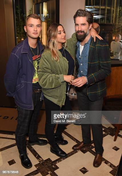 Rafferty Law Clementine Linieris and Jack Guinness attend JKS Restaurants launch of Brigadiers on June 5 2018 in London England