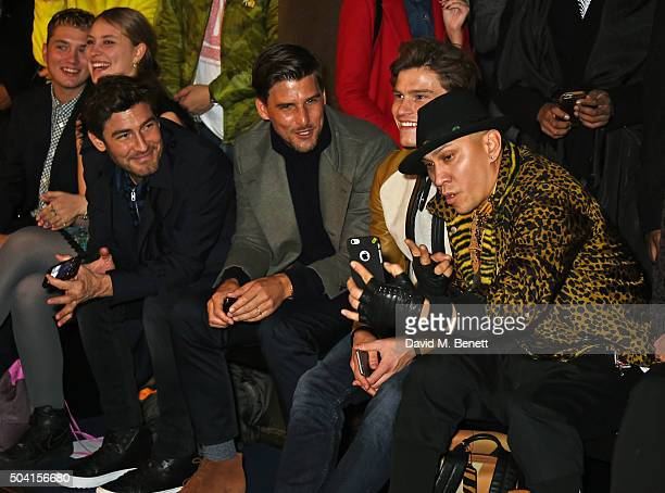 Rafferty Law Ella Dallaglio Robert Konjic Johannes Huebl Oliver Cheshire and Taboo attend the Coach FW16 show front row during London Collections Men...