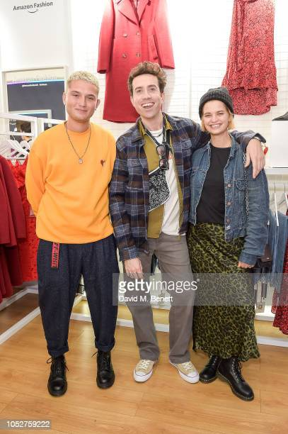 Rafferty Law Nick Grimshaw and Pixie Geldof attend the Amazon Fashion popup launch event on October 22 2018 in London England