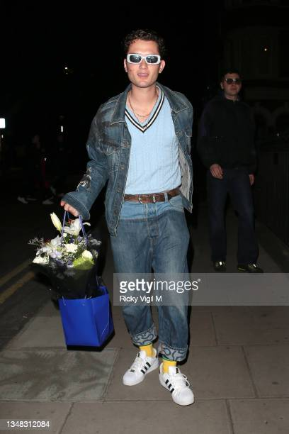 Rafferty Law seen attending his sister Iris Law's 21st birthday party at BASEMENT at The London EDITION on October 23, 2021 in London, England.