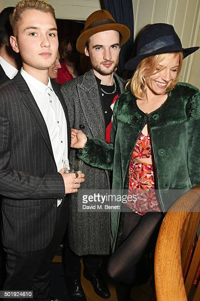 Rafferty Law Tom Sturridge and Sienna Miller attend the LOVE Christmas party at George on December 18 2015 in London England