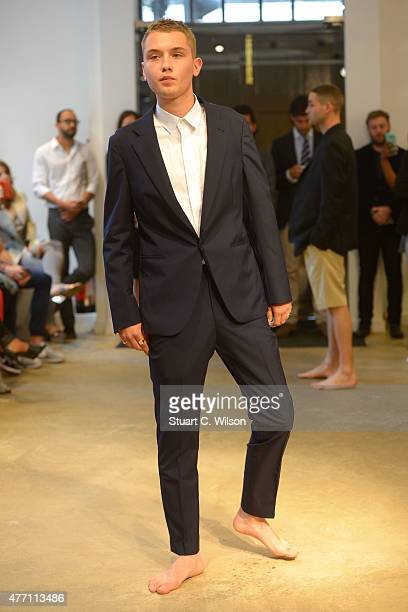 Raffety Law poses during the Spencer Hart presentation during The London Collections Men SS16 at on June 14 2015 in London England