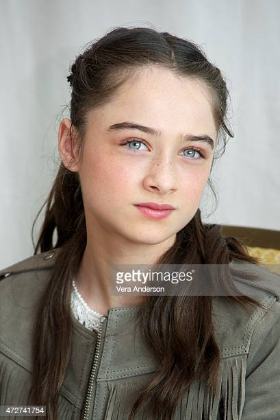Raffey Cassidy at the Tomorrowland Press Conference at the Montage Hotel on May 8 2015 in Beverly Hills California