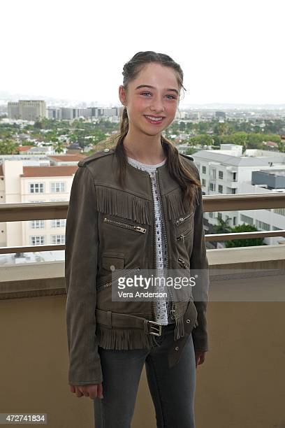 Raffey Cassidy at the 'Tomorrowland' Press Conference at the Montage Hotel on May 8 2015 in Beverly Hills California