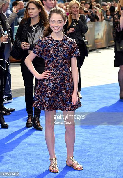 Raffey Cassidy attends the European premiere of 'Tomorrowland A World Beyond' at Odeon Leicester Square on May 17 2015 in London England