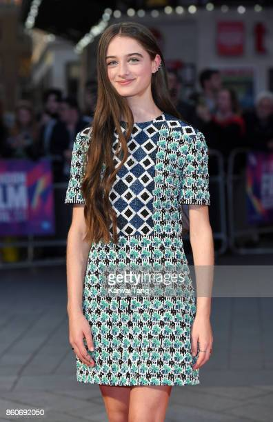 Raffey Cassidy attends the Headline Gala Screening UK Premiere of 'Killing of a Sacred Deer' during the 61st BFI London Film Festival at the Odeon...