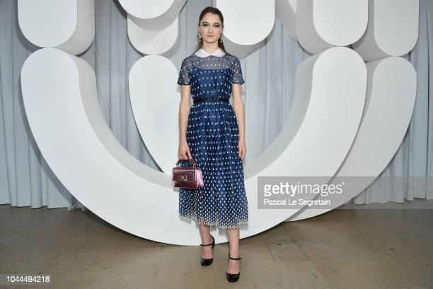 Raffey Cassidy attends the Miu Miu show as part of the Paris Fashion Week Womenswear Spring/Summer 2019 on October 2 2018 in Paris France