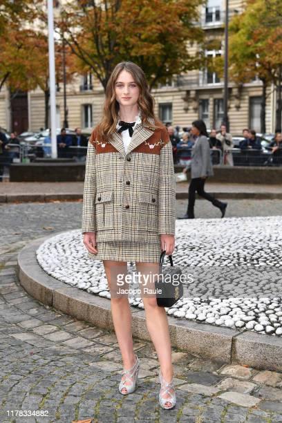 Raffey Cassidy attends the Miu Miu Womenswear Spring/Summer 2020 show as part of Paris Fashion Week on October 01 2019 in Paris France