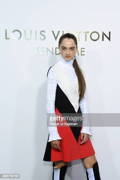 Raffey Cassidy attends the Opening Of The Louis Vuitton Boutique as part of the Paris Fashion Week Womenswear Spring/Summer 2018 on October 2 2017 in...