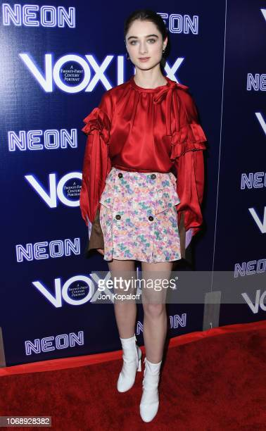 Raffey Cassidy attends the premiere of Neon's Vox Lux at ArcLight Hollywood on December 5 2018 in Hollywood California