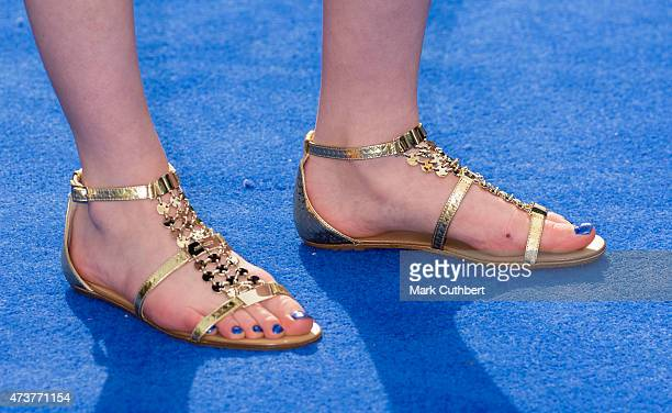 Raffey Cassidy attends the premiere of Tomorrowland at Odeon Leicester Square on May 17 2015 in London England