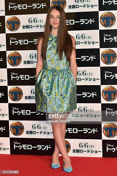 Raffey Cassidy attends the Tokyo premiere of 'Tomorrowland' at Roppongi Hills on May 25 2015 in Tokyo Japan