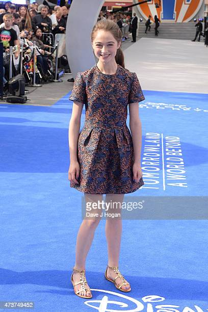 Raffey Cassidy attends the Tomorrowland A World Beyond European premiere at Leicester Square on May 17 2015 in London England