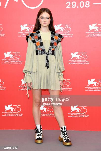 Raffey Cassidy attends 'Vox Lux' photocall during the 75th Venice Film Festival at Sala Casino on September 4 2018 in Venice Italy