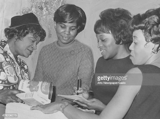 Raffle party given by Freedmen's Hospital Nurses Alumni for scholarship fund held at home of Mrs Ruth Powers, Washington DC, December 29, 1967....