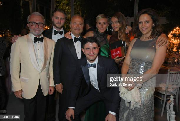 Rafi Manoukian Manouk Manoukian Bob Manoukian Aram Manoukian Jo Manoukian Siran Manoukian and Tamar Manoukian attend the Argento Ball for the Elton...