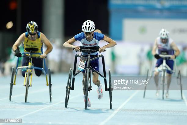 Rafi Solaiman of Great Britain in action in the Men's 100m RR3 during Day Nine of the IPC World Para Athletics Championships 2019 Dubai on November...