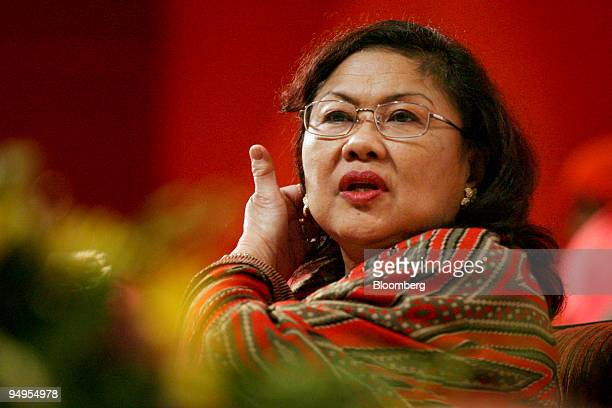Rafidah Aziz United Malays National Organisation's Women's Wing head attends the United Malays National Organisation's general assembly in Kuala...
