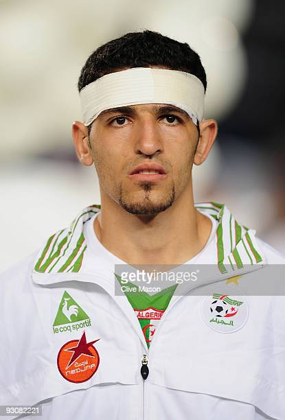 Rafik Halliche of Algeria during the FIFA2010 World Cup qualifying match between Egypt and Algeria at the Cairo International Stadium on November 14...