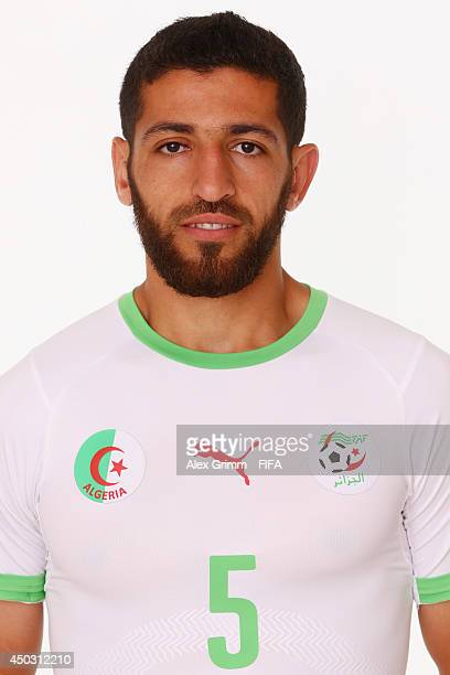 Rafik Halliche of Algeria poses during the official FIFA World Cup 2014 portrait session on June 8 2014 in Sao Paulo Brazil