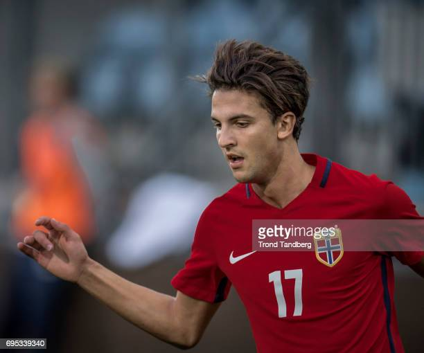 Rafik Zekhnini of Norway during the Qualifying Round European Under 21 Championship 2019 between Norway v Kosovo at Ullevaal Stadion on June 12 2017...