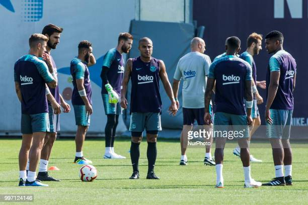 Rafinha Alcantara from Brasil during the first FC Barcelona training session of the 2018/2019 La Liga pre season in Ciutat Esportiva Joan Gamper...