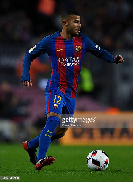 Rafinha Alcantara of FC Barcelona runs with the ball during the Copa del Rey round of 32 second leg match between FC Barcelona and Hercules at Camp...