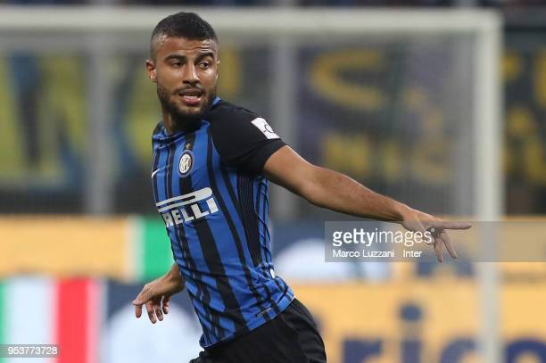 Rafinha Alcantara of FC Internazionale gestures during the serie A match between FC Internazionale and Juventus at Stadio Giuseppe Meazza on April 28...