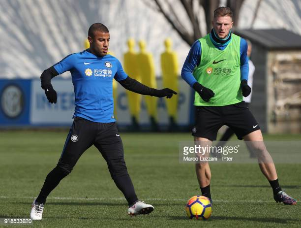 Rafinha Alcantara of FC Internazionale in action during the FC Internazionale training session at the club's training ground Suning Training Center...