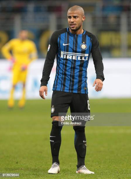 Rafinha Alcantara of FC Internazionale Milano looks on during the serie A match between FC Internazionale and FC Crotone at Stadio Giuseppe Meazza on...