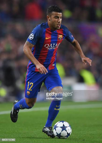 Rafinha of Barcelona in action during the UEFA Champions League Round of 16 second leg match between FC Barcelona and Paris SaintGermain at Camp Nou...
