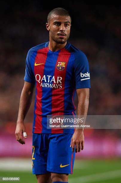 Rafinha of Barcelona looks on during the La Liga match between FC Barcelona and Valencia CF at Camp Nou Stadium on March 19 2017 in Barcelona Spain