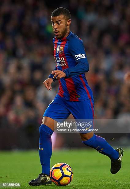 Rafinha of Barcelona runs with the ball during the La Liga match between FC Barcelona and Malaga CF at Camp Nou stadium on November 19 2016 in...