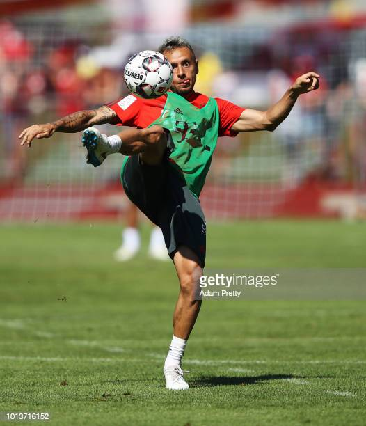 Rafinha of Bayern Munich in action during FC Bayern Muenchen pre season training on August 9, 2018 in Rottach-Egern, Germany.