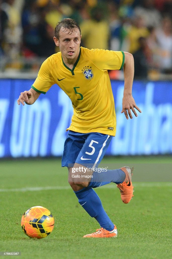 Rafinha of Brazil during the International Friendly match between South Africa and Brazil at FNB Stadium on March 05, 2014 in Johannesburg, South Africa.