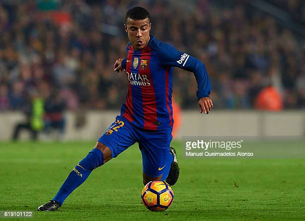 Rafinha of FC Barcelona runs with the ball during the La Liga match between FC Barcelona and Granada at Camp Nou stadium on October 29 2016 in...
