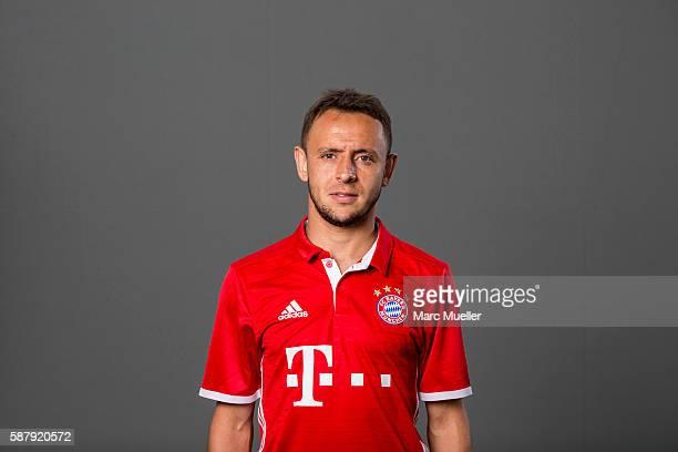 Rafinha of FC Bayern Munich pose during the team presentation on August 10 2016 in Munich Germany