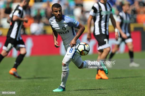 Rafinha of FC Internanzionale in action during the serie A match between Udinese Calcio and FC Internazionale at Stadio Friuli on May 6 2018 in Udine...